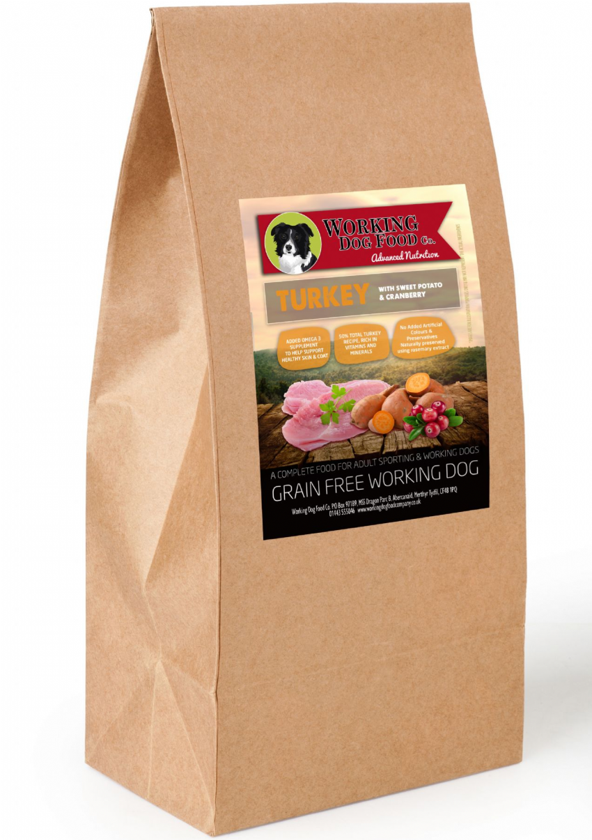 Grain Free Working Dog Food Co. Turkey With Sweet Potato & Cranberry